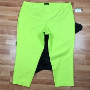 Eloquii Lime Green Cropped Pants